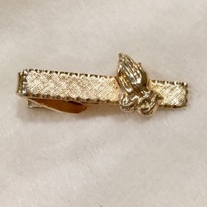 Vintage Praying Hands Tie Clip